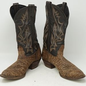Tony Lama Distressed Western Style Leather Boot 7